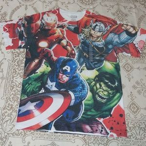 Marvel Super Hero Graphic T-Shirt Size M